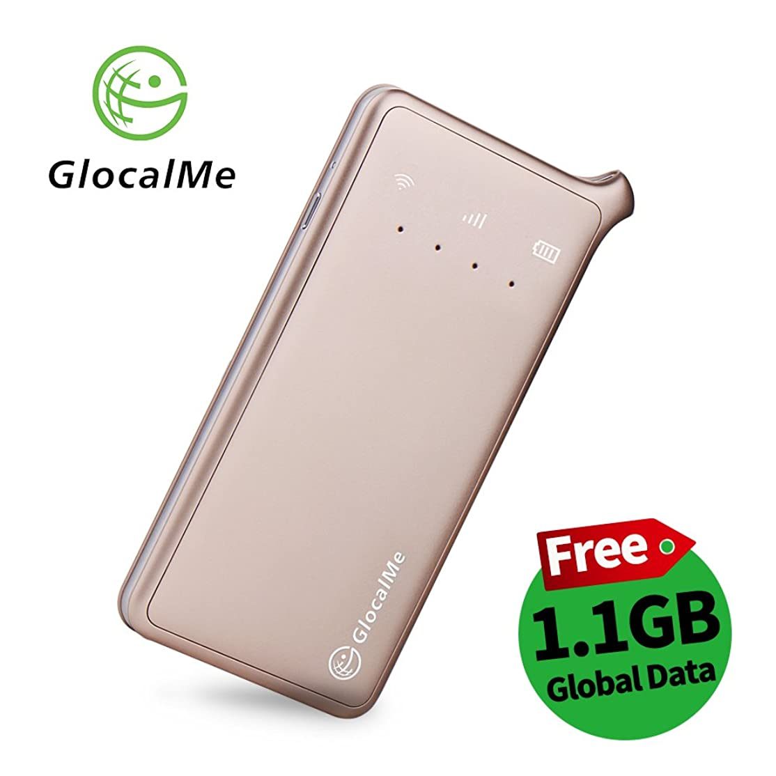 行進司令官物思いにふけるGlocalMe U2 モバイル Wi-Fi ルーター 1.1ギガ分のグローバルデータパック付け 高速4G LTE ポケットwifi simフリー 世界140国?地区以上対応 フリーローミング 国内?海外旅行最適 iPhone?Xperia?HTC?Galaxy?iPadなど全機種対応 超軽くて携帯便利 (ゴールド)