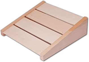 HOFMEISTER® hoofdsteun voor de sauna van hoogwaardig lindehout, stabiele sauna rugleuning, Made in EU, ergonomische rugste...
