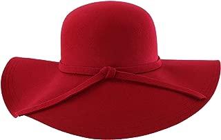 Luxury Divas Wide Brimmed Wool Floppy Hat
