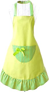Hyzrz Hot Lovely Funny Aprons Green Girls Women Cupcake Shop Fashion Apron with Pocket