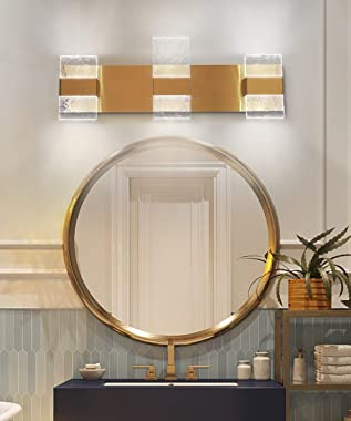Dailyart Bathroom Vanity Lights Fixtures 3 Light Modern Bathroom Lighting Fixtures Over Mirror 26 Inch 18W Led Vanity Light L