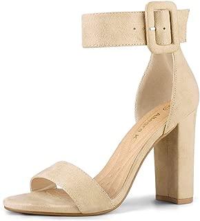 Women's Ankle Strap Block High Heel Sandals