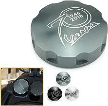 Heinmo Motorcycle Gas Fuel Tank Filler Cap Cover For Vespa GTS GTV LX125 150 250 300 (Titanium)