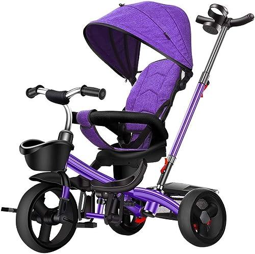 Mercancía de alta calidad y servicio conveniente y honesto. Wgw Niños 4 en 1 Trike, Triciclo para Niños Niños Niños Niños Nino Trike para Niños de 1 año Triciclo para Niños rojo púrpuraa gris azul (Color  púrpura)  descuento de bajo precio