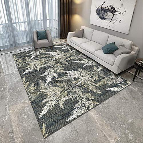 RUGMYW Bonitas alfombras de Pasillo Impresión Amarilla de Hojas Grises Beige alfombras de Salon Baratas 45X75cm