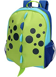 Yodo Little Kids School Bag Pre-K Toddler Backpack - Name Tag and Chest Strap, Dinosaur