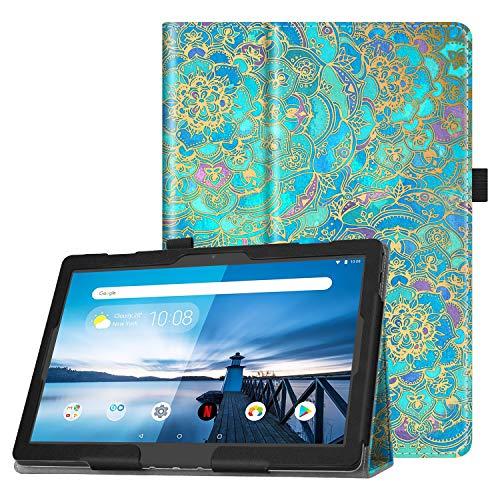Fintie Hülle für Lenovo Tab M10 (TB-X505L TB-X505F TB-X605L TB-X605F) / P10(TB-X705F) - Folio Kunstleder Schutzhülle mit Standfunktion für Lenovo Smart Tab M10 / P10 (10,1 Zoll) Tablet PC, Jade