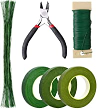 Pengxiaomei Floral Arrangement Kit, Floral Tapes & Wraps Floral Wire Cutter Green Floral Tape 22 Guage Floral Stem Wire 26...