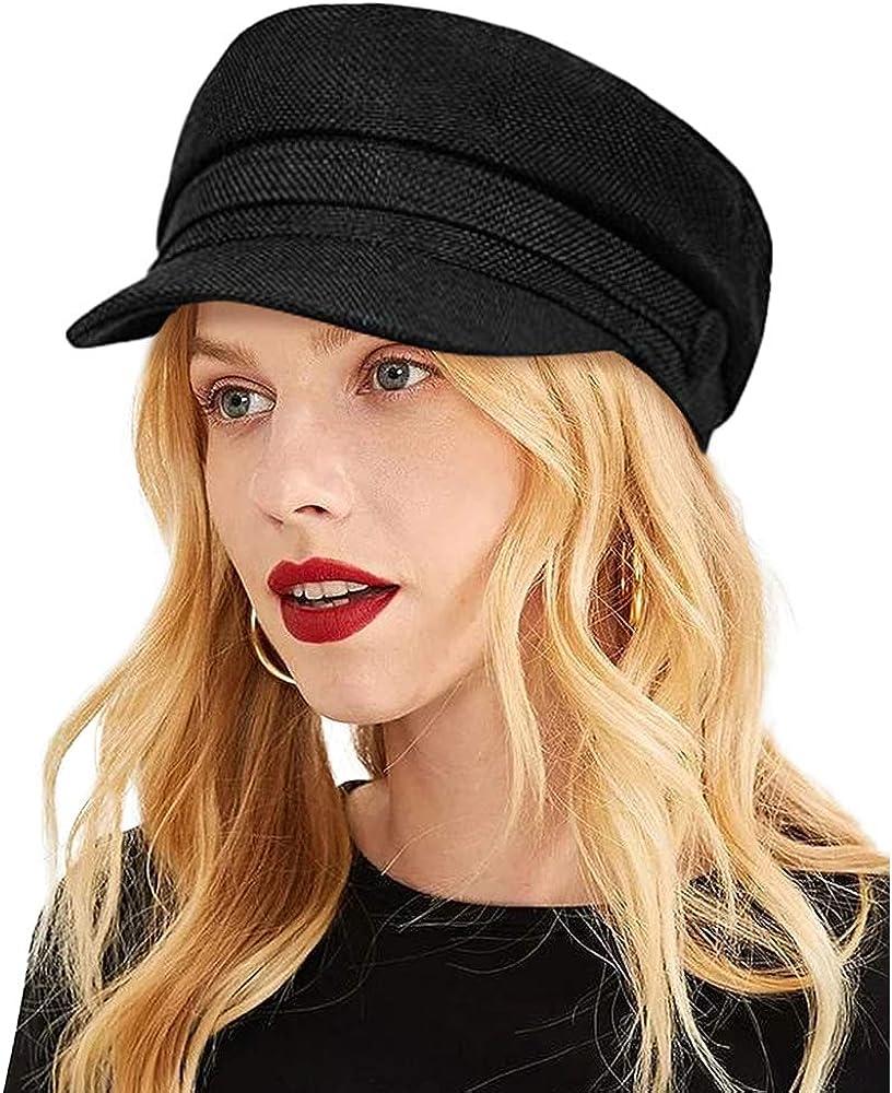 ColorSun Excellence Women's Newsboy Caps Beret Hat for Inexpensive Ladies Black Fashion