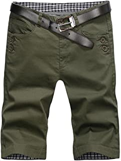 Buytop Men's Chino Short Cotton Flat Front Short(1819Army Green40)