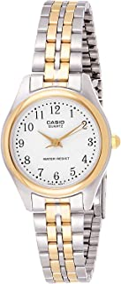 Casio Watch For Women Quartz, Analog Display and Stainless Steel Strap LTP-1129G-7B