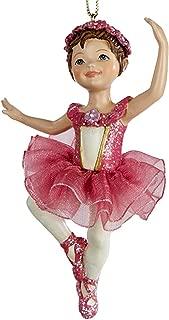 Kurt Adler Ballerina Ballet Girl Ornament Dark Pink C8339-A Christmas Ornament
