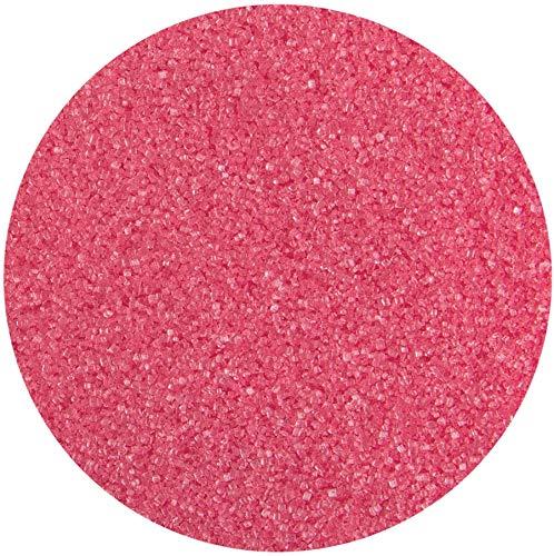 bunter Farb - Zucker Pink 100g Dekorzucker Glitzerzucker Streudekor Zuckerwatte