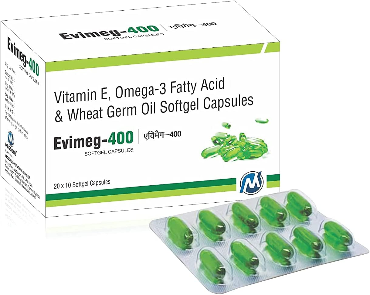 Bewo EVIMEG-400 Mail order cheap Vitamin Special Campaign E 30 Capsules for and Skin Hea Glowing