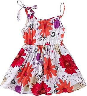 Jimmackey Vestiti Casuali dallabito del Partito della Spiaggia Floreale della Girasole della neonata della neonata del Bambino