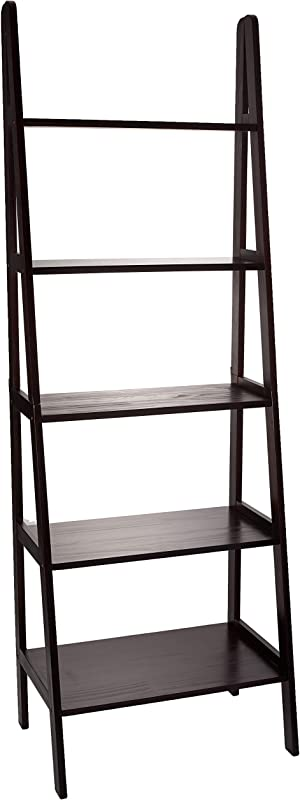 Casual Home 176 53 5 Shelf Ladder Bookcase Espresso