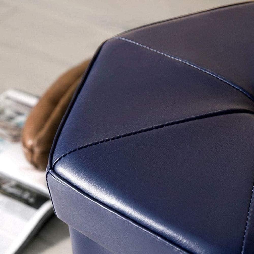 Repose-Pieds FootstoolStorage Tabouret Ménage de Rangement Pliable, Salon Chambre Dressing Tabouret (Couleur: Beige), Couleur: Gris foncé (Color : Blue) Beige