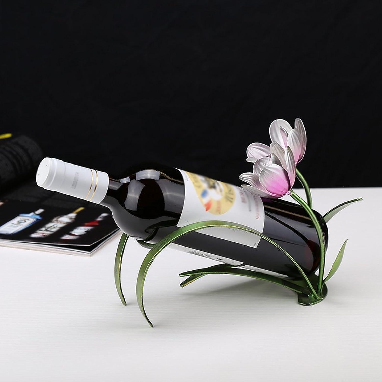 Wine Rack Resin Wine Cooler Shelf Creative Display Stand Warm Flower Modeling Bottle Holder
