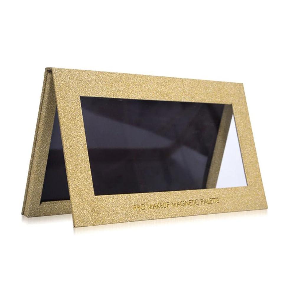 反論フィードオンシガレットVodisa パレット アイシャドウケース DIY 化粧 Lサイズ ゴールド (L)