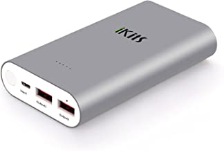 iKits Panasonic Battery Fast Charge Power Bank,10200mAh Aluminum 2 Port Smart Charge Dual port: 2.4A+2.4A with Smart IC Technology External Battery Pack for iPhone/iPad & Samsung and more Space Gray
