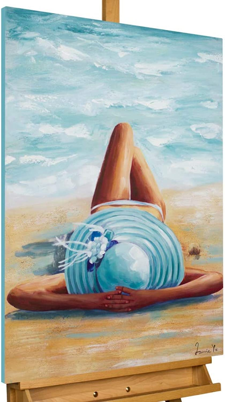 KunstLoft® Acryl Gemälde \'Beach Beauty\' 60x90cm original ...