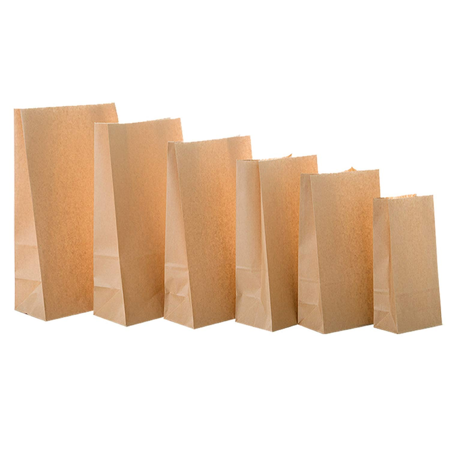 50/100pcs Kraft Paper Bag Gift Bags Packaging Biscuit Candy Food