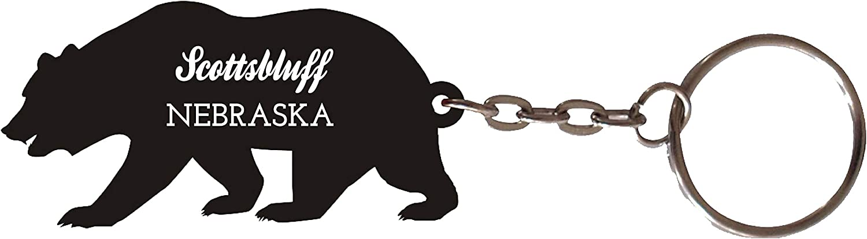 Scottsbluff Nebraska Souvenir Metal Bear Keychain