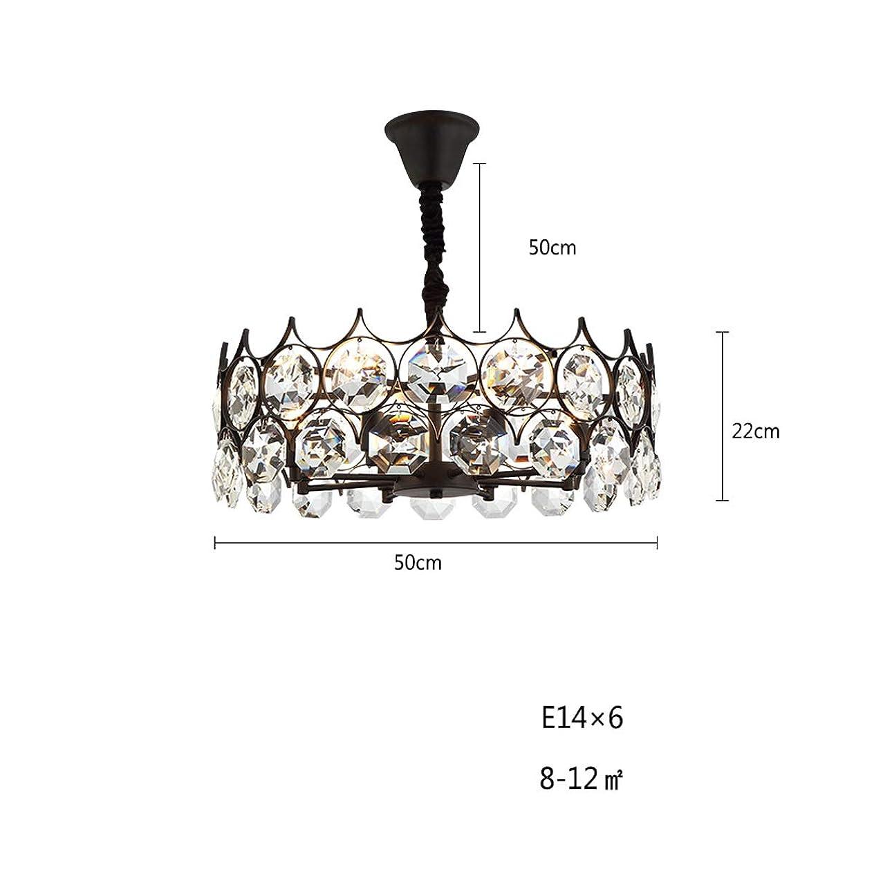 ナチュラル狂ったラリーCHENTAOCS アメリカのクリスタルのシャンデリアリビングルーム、ベッドルームダイニングルームの照明、ホーム暖かいクリエイティブライティング (Size : A)