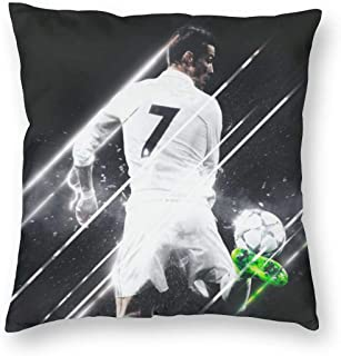 Greatest Football Player No.7 Jersey Throw Pillowcase Decorative Cushion Cover Square Bed Pillow Case Cover (12 x 12 inch) Twin Sides Print