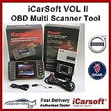 iCarsoft VOL II Outil de diagnostic pour Volvo / Saab SRS ABS Réinitialisation du moteur de frein EBP SAS DPF