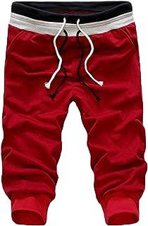[セカンドルーツ]カットクロップド メンズ ジョガーパンツ スウェット 腰紐調節 ポリエステル イージー カットクロップドパンツ