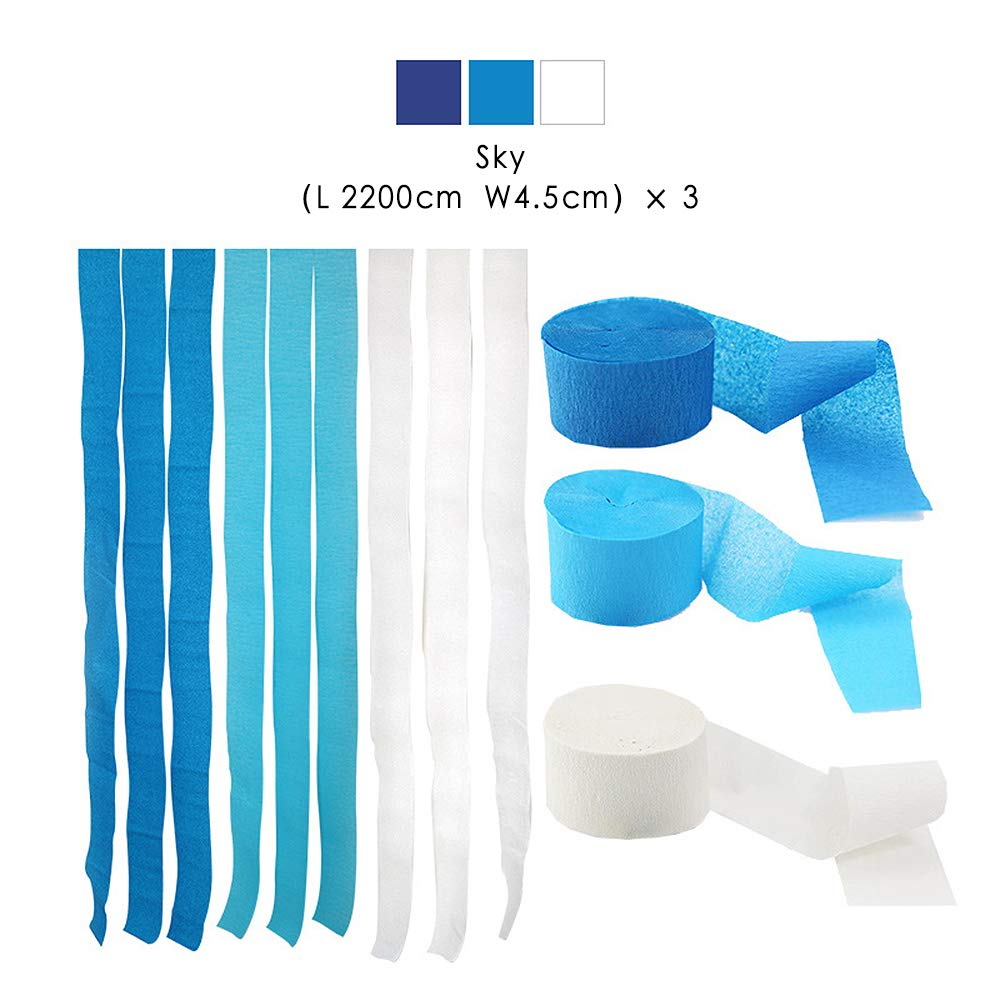 Family Gathering Thanksgiving Class Party Bining Streamers Paper 216ft Long 1.77in Wide Black Kits Crepe Paper Streamers,3 Packs Tassels Streamer Paper for Birthday Party Christmas Decoration