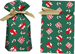 Christmas Drawstring Gift Bags,50PCS Candy Gift Bags, Xmas Treat Bags Food Storage Bags Gift Wrapping Package Bags for Christmas Valentine's Day Party Favor - 15x23cm(Gift Box)