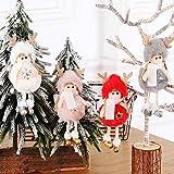 Brynnl - Decoraciones navideñas, Paquete de 4 muñecas de ángel, Adornos navideños para árbol de Navidad, Ventanas, automóviles, Ventanas, chimeneas, decoración de Barras