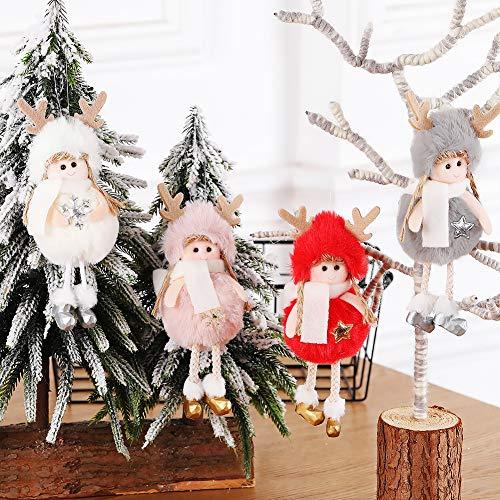 Vestito natalizio per ragazze con disegni a forma di renna rosa FA La La La