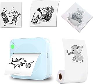 Portable Pocket Printer Wireless Portable Self-Adhesive Thermal Paper Printer Wireless Pocket Label Memo Photo Printer Bla...