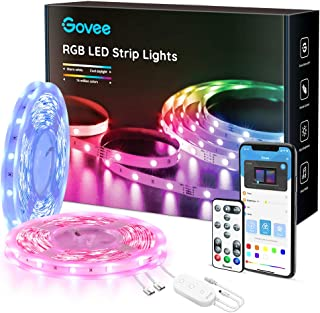 65.6FT LED Strip Lights, Govee Color Changing Bluetooth LED Light Strip, APP Control and Remote RGB Lights, 7 Scenes Mode and Music Sync LED Lights for Bedroom, Room, Kitchen, Party, 3 Ways Control