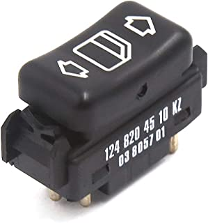 uxcell Front Right Master Control Power Window Switch 1248204510 for Mercedes Benz W124 W126 W201