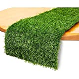 Juvale Synthetic Grass Table Runner for Party Decor (14 x 48 Inches)