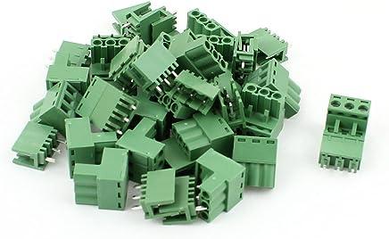 RUNCCI Bloque de terminales del tornillo de PCB de 48 pedazos Conector de tornillo del montaje de la PCB de la echada de 2Pin 3Pin