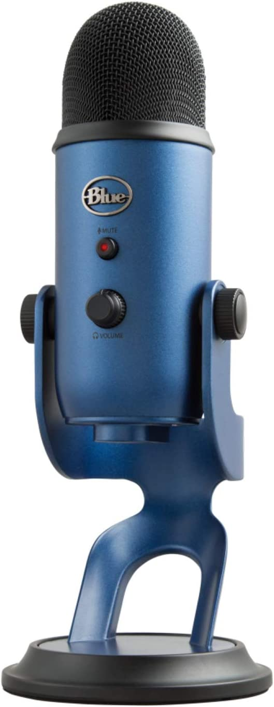 Blue Micrófono USB profesional Yeti para grabación, streaming, podcasting, radiodifusión, gaming, voz en off y más, multipatrón, Plug'n Play en PC y Mac - Azul Oscuro