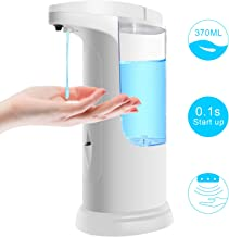 Soap Dispenser 【2020 Newest Version】Touchless Automatic Soap Dispenser, Infrared Motion Sensor Dish Hands-free Auto Soap Dispenser, Upgraded Waterproof Base for Home, School, Office and Hotel Use.