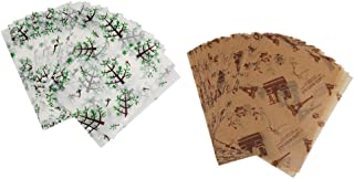 Homyl Pieces of 100 Tree Eiffel Tower Wax Paper Food Wrapping Paper Soap DIY Craft