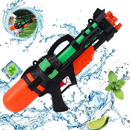 wasserpistole groß,wasserpistole mit großer reichweite,wasserpistole Spielzeug,wassergewehr für Erwachsene Kinder,Water Gun,Water Blaster,wasserpistole für Garten und Strand (Schwarz Rot)