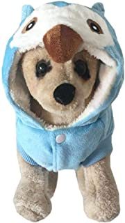 Barlingrock Dog Clothes, Pet Clothes for Small Dog, Dog Coats Dog Jackets Dog Hoodies Dog Sweater, Pet Dog Cute Cool Owl Cosplay Thick Warm Comfortable Puppy Costume Clothing