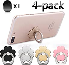 Phone Ring Holder Finger Kickstand 4-Pack 360° Rotation Ring Grip Hand Grip with a Car Mount Hooks for Magnetic Car Mount Compatible with All Smartphone