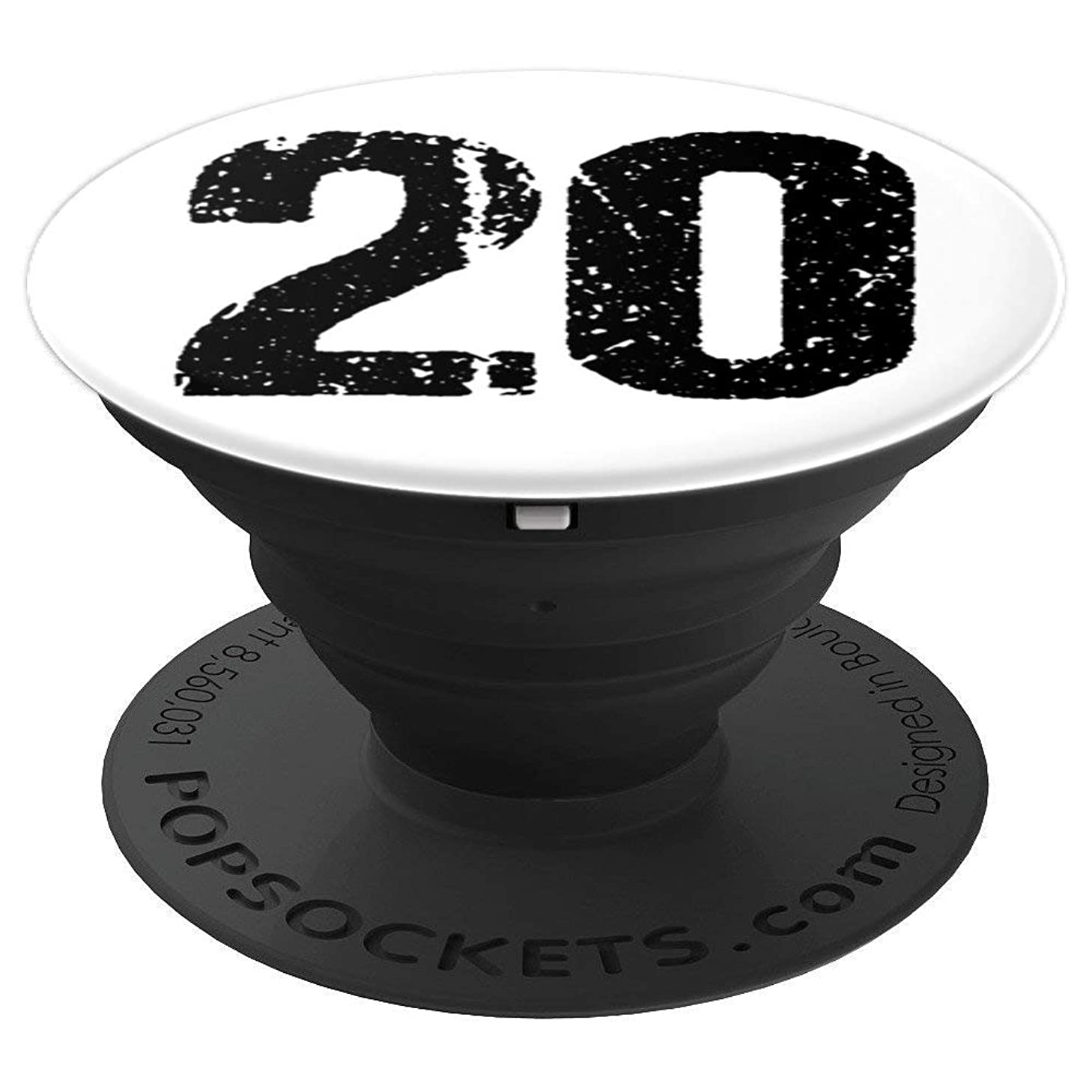 20 White Distressed Number Sports Team Player Mobile Holder - PopSockets Grip and Stand for Phones and Tablets