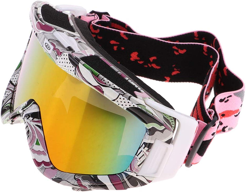 Fenteer Ski Snowboard Goggles UV Predection AntiFog Snow Eyewear Glasses  for Men Women Youth  Winter Sport Equipment