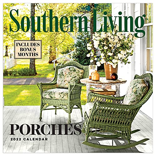 TF PUBLISHING - 2022 Southern Living: Porches Wall Calendar - Home and Office Organizer - Large Monthly Grid for Plans and Schedules - Bonus Months