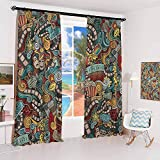 hengshu Doodle Sun Protection Insulated Bedroom Living Room Curtain Cinema Items...